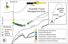 Baxter State Park Map by New Paleontological Insights Into The Emsian U2013eifelian Trout Valley