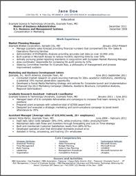 mba application resume format sle mba marketing resume marketing mba degree programs