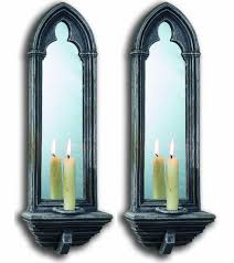 Mirror With Candle Sconces Gothic Mirrors By Chapter House Design Church Candle Sconce Mirror