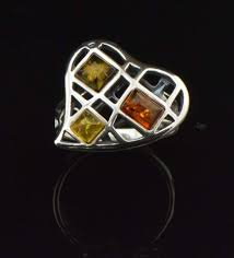 tricolor ring mesh heart tricolor ring mar silver jewelry