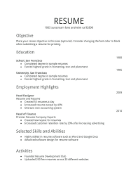 simple resume exles for college students basic resume template with no work experience exle for cover