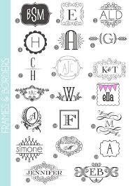 initial fonts for monogram monograms made easy 72 fonts frames damask