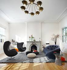 awesome wooden flooring on grey rug and stunning living room