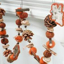rustic wood leaf and pinecone garland garlands floral supplies