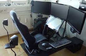 Gaming Desk Setup Ideas Killer Flight Sim Setup Computer Chair Pinterest Sims Tech
