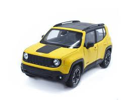 yellow jeep welly 1 24 jeep renegade diecast metal model car vehicle yellow
