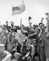 Japanese Generals by Photo Us Marines And Us Army Soldiers Celebrating The Capture Of