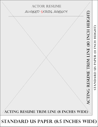 writing an acting resume resume basics for the southeast market aligned stars agency resumetemplatesize