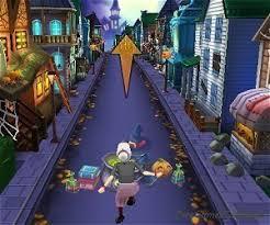 angry gran halloween village run game