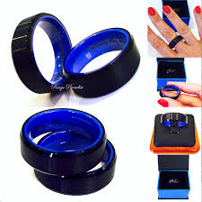 black mens wedding ring tungsten wedding bands men engagement ring black blue mens