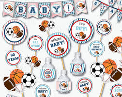 Sports Baby Shower Centerpieces by Mermaid Baby Shower Decorations Printable Under The Sea Baby