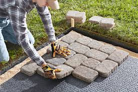 How To Build A Stone Patio by Installing Pavers How To Install Belgard Pavers U0026 Retaining Walls