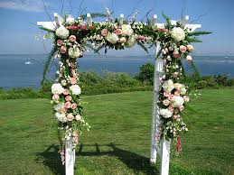 wedding arches okc wedding arch with white hydrangeas and pink roses