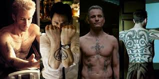 12 baddest tattoos in movies from george clooney u0027s neck to