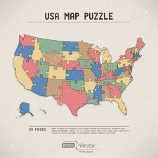 Usa Puzzle Map by Usa Map Puzzle Royalty Free Cliparts Vectors And Stock