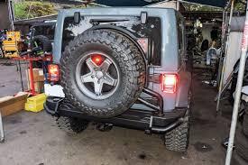 jeep wrangler backup lights 031 anvil jk wrangler aev bumper rear install jeepsrus tire carrier