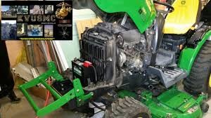 installing replacement battery u0026 radiator cleaning on a john deere