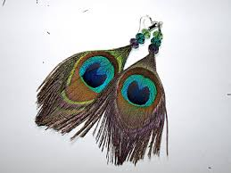 make feather earrings cook craft beaded peacock feather earrings diy tutorial