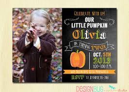 little pumpkin chalkboard birthday invitation or boy