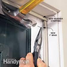 Exterior Door Seal Replacement How To Stop Door Drafts Around Entry Doors Family Handyman