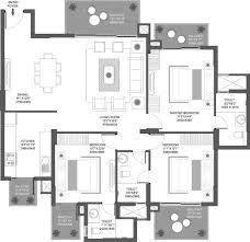 1825 sq ft 3 bhk floor plan image godrej properties icon