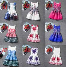 discount designer wholesale flower dresses 2017 designer