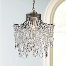 Wall Sconces With Plug In Cords Ideas Plug In Swag Chandelier With Delightful Mixture Of Clear