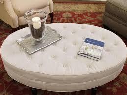 round leather coffee table ottoman modern ottoman coffee table