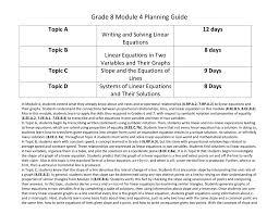 math 8 module 4 guidance