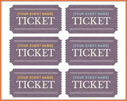 avery tickets template ticket template word bio letter sle