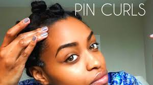 heatless curls how to pin curl medium length natural hair youtube
