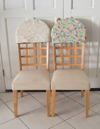 Chair Back Covers Reversible Padded Chair Back Covers Sew Very Crafty