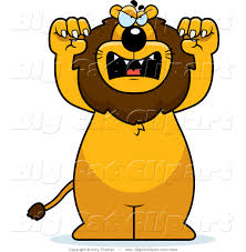 angry lion clipart 28