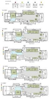 Camper Floor Plans by 2011 Tiffin Phaeton Class A Motorhome Roaming Times