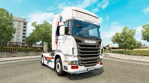 scania truck a skin of superman for scania truck for euro truck simulator 2