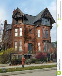 detroit old brick victorian home editorial image image 47109350