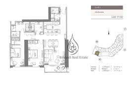 Apartment Unit Floor Plans by Kempinski Residences 2 Bedroom Hotel Apartment Level 2 Business