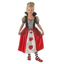 girls queen of hearts alice in wonderland costume 880341