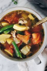 turkey and summer vegetable soup paleo whole30