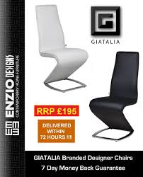 Z Dining Chairs by Z Ii New Edition Designer White Leather Dining Chair Chairs