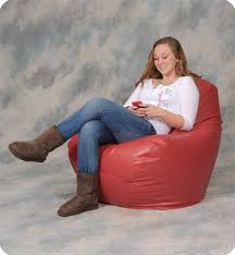 Red Leather Bean Bag Chair Large Leather Like Vinyl Bean Bag Chairs Fraser Valley Bean Bags