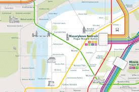 Prague Metro Map by Urban Map Prague Rail Map