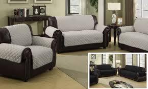 Waterproof Sofa Cover by Waterproof Quilted Microfiber Reversible Sofa Slipcover Silver