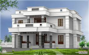 bhk modern flat roof house design kerala home floor plans home