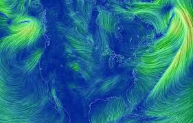 earth wind map hypnotically beautiful real time wind map of earth created by