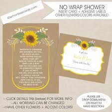 sunflower wrapping paper sunflower display shower insert card and label set no wrap