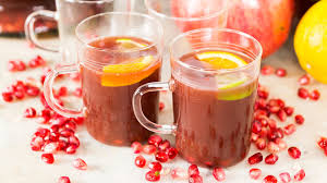 pomegranate chagne punch thanksgiving recipe