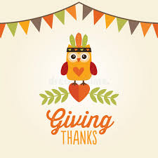 happy thanksgiving card owl costume giving thanks stock vector