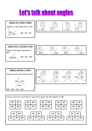 angle properties lesson and worksheets by alexakerr teaching