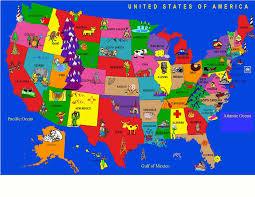 United States Learning Map by Conexxo Corp Educational Rugs For Sale